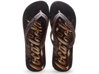 Chinelo Masculino Coca-cola Shoes Cc0655 Marrom - Tamanho Médio