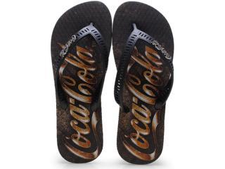 Chinelo Masculino Coca-cola Shoes Cc0655 Preto - Tamanho Médio