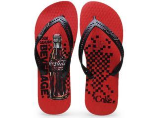 Chinelo Masculino Coca-cola Shoes Cc0596 Vermeho/preto - Tamanho Médio
