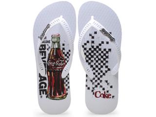 Chinelo Masculino Coca-cola Shoes Cc0596 Branco - Tamanho Médio