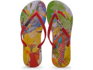 Chinelo Feminino Coca-cola Shoes Cc0630 Vermelho - Tamanho Médio