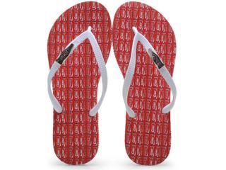 Chinelo Feminino Coca-cola Shoes Cc0594 Vermelho/branco - Tamanho Médio