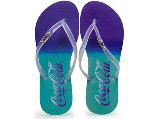 Chinelo Feminino Coca-cola Shoes Cc2005 Verde Acqua Cristal - Tamanho Médio