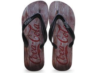 Chinelo Masculino Coca-cola Shoes Cc0563 Preto - Tamanho Médio
