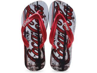 Chinelo Masculino Coca-cola Shoes Cc0127 Preto/vermelho - Tamanho Médio
