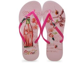 Chinelo Feminino Coca-cola Shoes Cc2004 Pink - Tamanho Médio