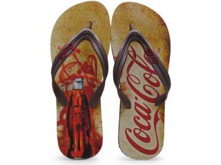 Chinelo Masculino Coca-cola Shoes Cc0653 Preto/marrom - Tamanho Médio