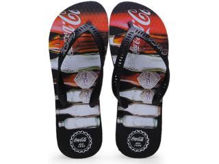 Chinelo Masculino Coca-cola Shoes Cc0560 Preto - Tamanho Médio