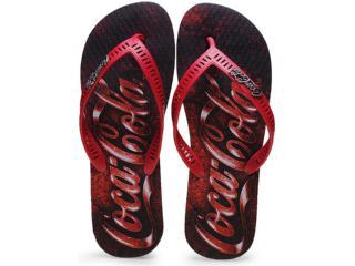 Chinelo Masculino Coca-cola Shoes Cc0655 Preto/vermelho - Tamanho Médio
