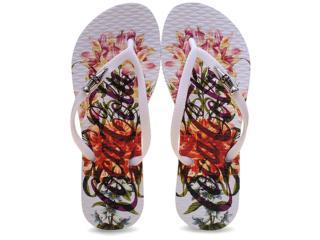 Chinelo Feminino Coca-cola Shoes Cc2042 Branco - Tamanho Médio