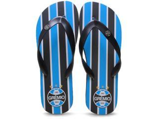 Chinelo Masculino Grêmio  001 Preto - Tamanho Médio