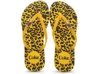 Chinelo Feminino Coca-cola Shoes Cc2102 Amarelo - Tamanho Médio