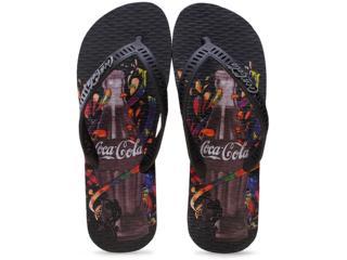 Chinelo Masculino Coca-cola Shoes Cc0629 Preto - Tamanho Médio