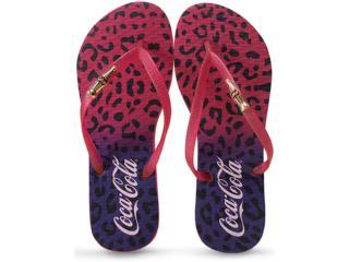 Chinelo Feminino Coca-cola Shoes Cc2045 Lilas/pink - Tamanho Médio
