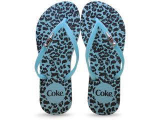 Chinelo Feminino Coca-cola Shoes Cc2102 Onca Turquesa - Tamanho Médio