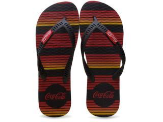 Chinelo Masculino Coca-cola Shoes Cc2095 Preto/vermelho - Tamanho Médio