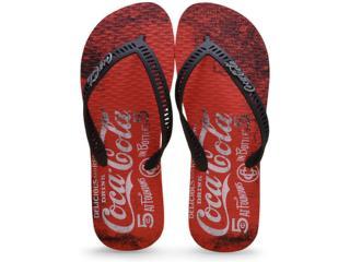 Chinelo Masculino Coca-cola Shoes Cc2099 Vermelho/preto - Tamanho Médio