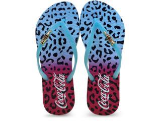 Chinelo Feminino Coca-cola Shoes Cc2045 Azul - Tamanho Médio