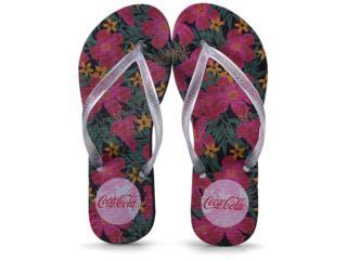 Chinelo Feminino Coca-cola Shoes Ccl2352 Preto/cristal - Tamanho Médio