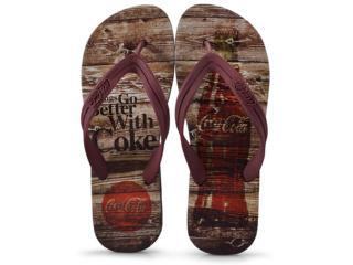 Chinelo Masculino Coca-cola Shoes Ccl2271 Preto/bordo - Tamanho Médio
