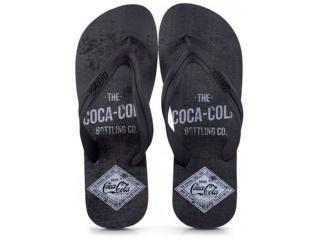 Chinelo Masculino Coca-cola Shoes Ccl2275 Preto - Tamanho Médio