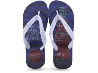 Chinelo Masculino Coca-cola Shoes Ccl2271 Marinho/branco - Tamanho Médio