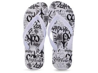 Chinelo Masculino Coca-cola Shoes Ccl2291 Branco - Tamanho Médio