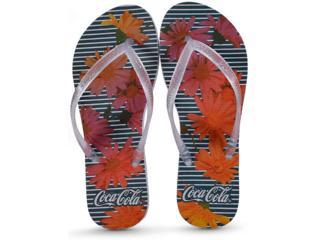 Chinelo Feminino Coca-cola Shoes Ccl2391 Branco/cristal - Tamanho Médio