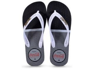 Chinelo Masculino Coca-cola Shoes Cc2334 Preto/branco - Tamanho Médio