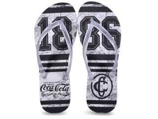 Chinelo Feminino Coca-cola Shoes Ccl2361 Branco/cristal - Tamanho Médio
