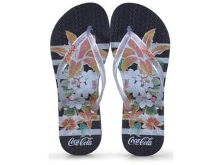 Chinelo Feminino Coca-cola Shoes Cc2581 Preto/cristal - Tamanho Médio