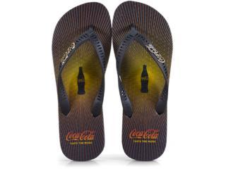 Chinelo Masculino Coca-cola Shoes Cc2477 Preto - Tamanho Médio