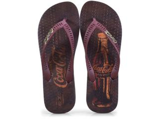 Chinelo Masculino Coca-cola Shoes Cc2573 Preto/bordo - Tamanho Médio