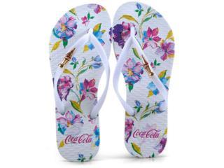 Chinelo Feminino Coca-cola Shoes Cc2574 Branco - Tamanho Médio