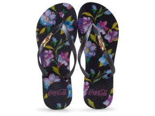 Chinelo Feminino Coca-cola Shoes Cc2574 Preto - Tamanho Médio