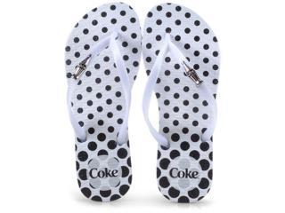 Chinelo Feminino Coca-cola Shoes Cc2582 Branco - Tamanho Médio