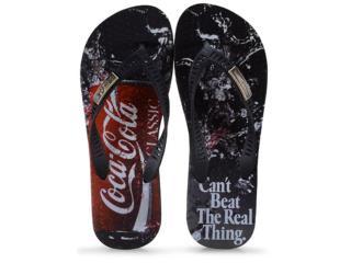 Chinelo Masculino Coca-cola Shoes Cc2647 Preto - Tamanho Médio