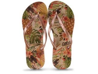 Chinelo Feminino Coca-cola Shoes Cc2742 Bege/cobre - Tamanho Médio