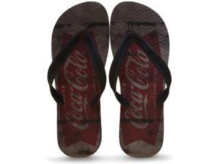 Chinelo Masculino Coca-cola Shoes Ccl2231 Preto - Tamanho Médio