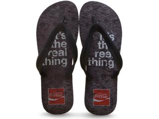 Chinelo Masculino Coca-cola Shoes Ccl2246 Preto - Tamanho Médio