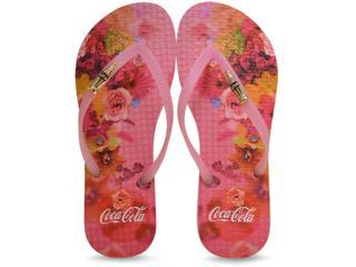 Chinelo Feminino Coca-cola Shoes Cc2187 Rosa - Tamanho Médio