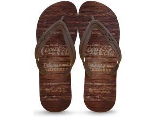 Chinelo Masculino Coca-cola Shoes Ccl2180 Preto/marrom - Tamanho Médio