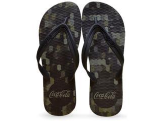 Chinelo Masculino Coca-cola Shoes Ccl2232 Preto - Tamanho Médio