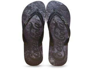 Chinelo Masculino Coca-cola Shoes Cc2244 Preto - Tamanho Médio