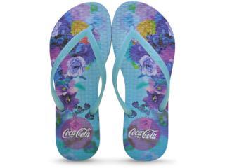 Chinelo Feminino Coca-cola Shoes Ccl2187 Azul - Tamanho Médio