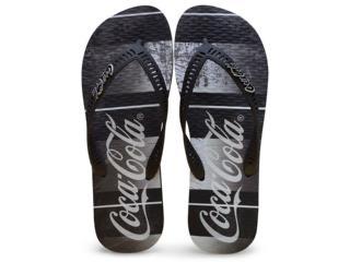 Chinelo Masculino Coca-cola Shoes Cc2183 Preto - Tamanho Médio