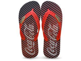 Chinelo Masculino Coca-cola Shoes Cc2238 Preto/vermelho - Tamanho Médio
