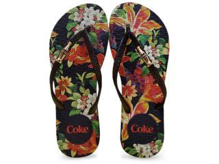 Chinelo Feminino Coca-cola Shoes Cc2250 Preto - Tamanho Médio