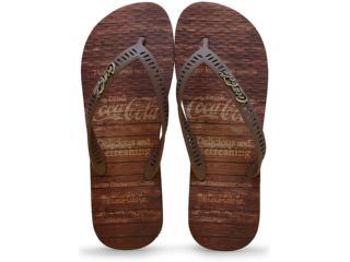 Chinelo Masculino Coca-cola Shoes Cc2180 Preto/marrom - Tamanho Médio