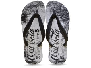 Chinelo Masculino Coca-cola Shoes Ccl2099 Branco/preto - Tamanho Médio